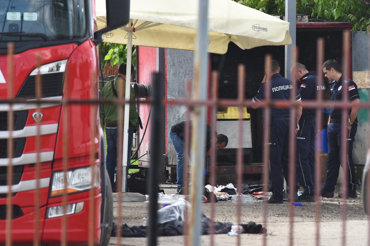Novi Sad1143 cisterna za gorivo u kojoj su pronadjeni migranti foto Nenad Mihajlovic
