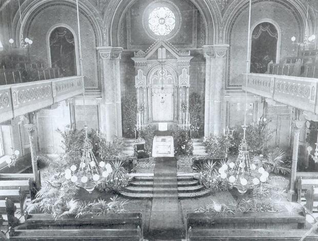 Synagoga w Cieszynie w 1906 r.