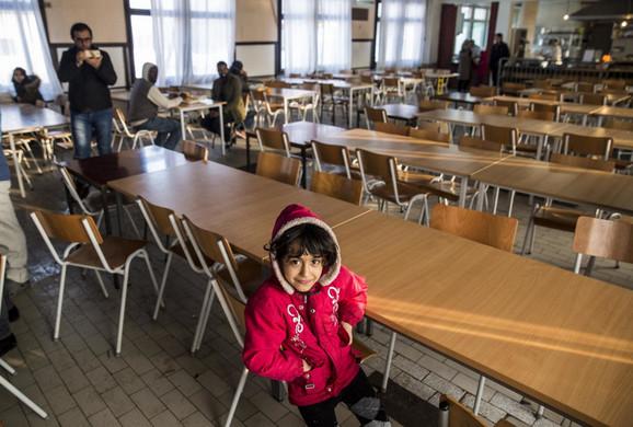 Migranti u prihvatnom centru u Krnjači