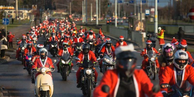 Mikołaje na Motocyklach w Trójmieście. Udane kwestowanie, ale i przykry incydent