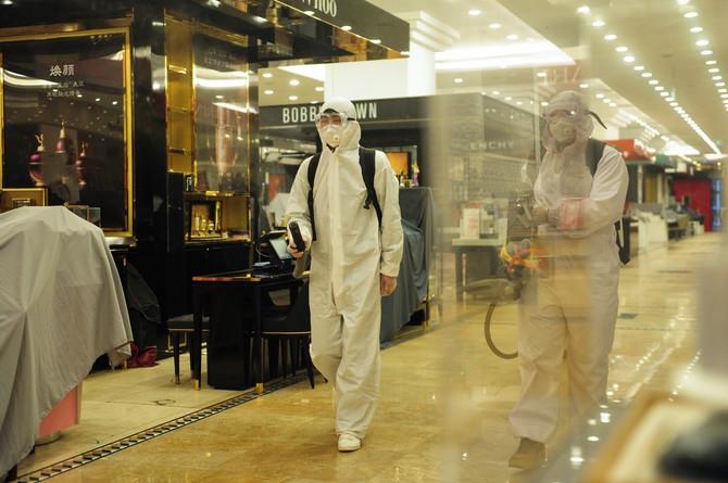 Dezinfekcija tržnih centara pred otvaranje