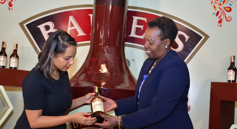 Kenya Breweries Managing Director, Jane Karuku and Jumia Party General manager Shreenal Ruparelia admire the new pack of Baileys Delight. It is a delicious liquid that blends cream and the luscious taste of African honey to offer a unique taste experience. The product is from the makers of Baileys Original Irish Cream.