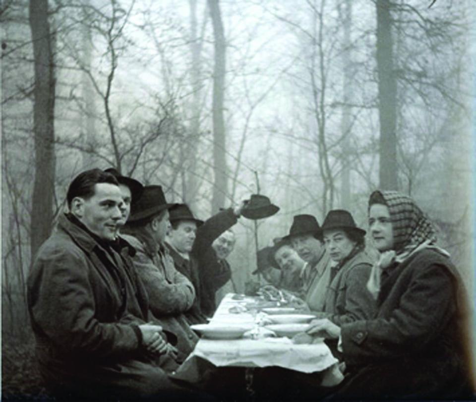 Niemcy. Obiad łowiecki, 1952 r.
