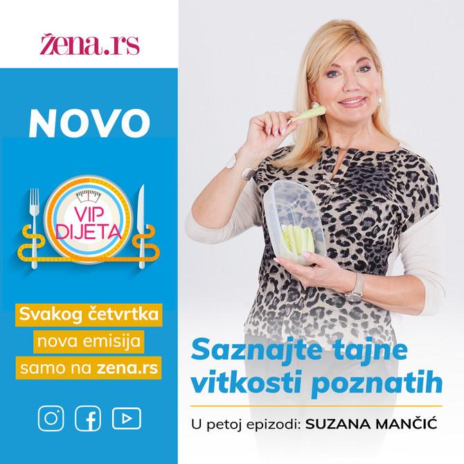 """Suzana Mančić SUTRA U 20 ČASOVA gostuje u petoj epizodi """"VIP dijete"""""""
