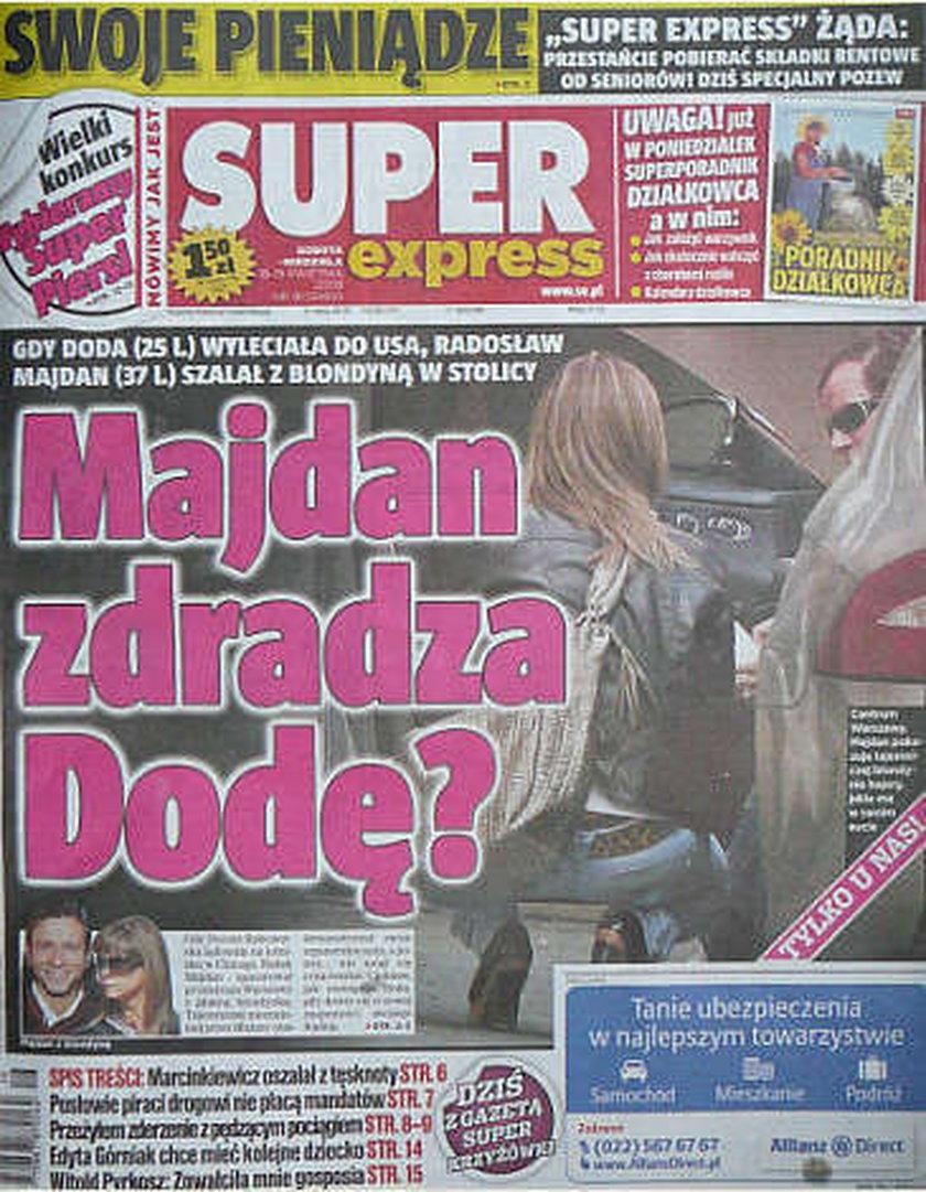Majdan znowu zdradza Dodę?