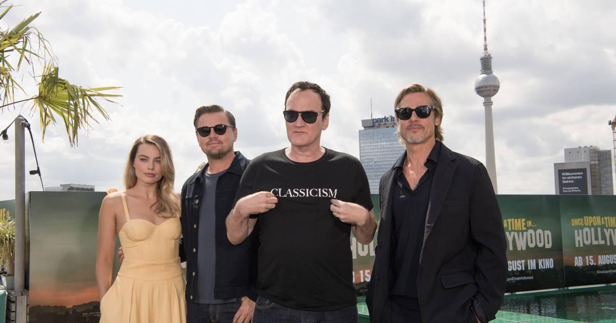 Fotos von Leonardo DiCaprio, Brad Pitt und Quentin Tarantino in Berlin