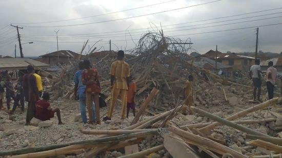 Ibadan Building Collapse Photo