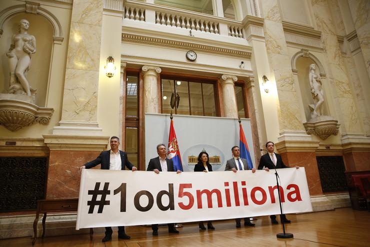 skupština, opozicija, jedan od pet miliona, sednica, bojkot