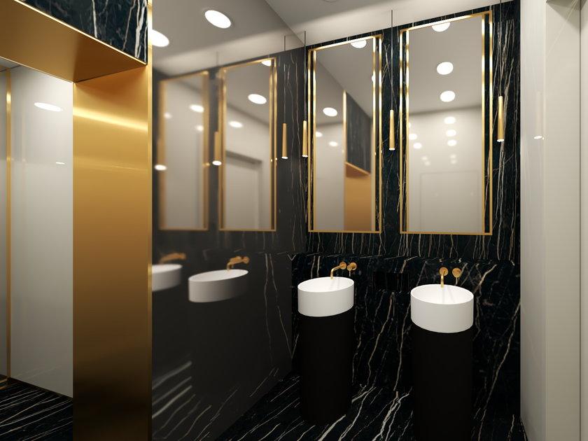 Tak miały wyglądać łazienki w NBP