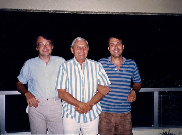 Krystyn z synami - Piotrem i Jerzym