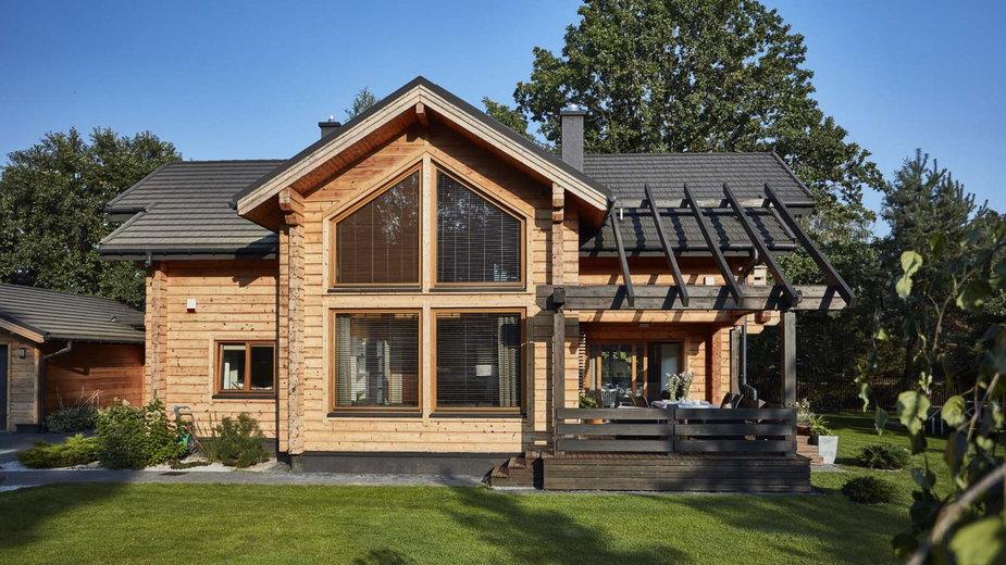 Skandynawskie domy drewniane, dom z bali