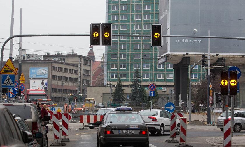 zmiany komunikacyjne w centrum Katowic