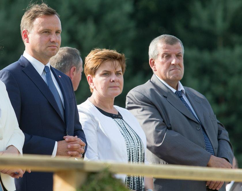 Beata Szydło z prezydnetem i mężem
