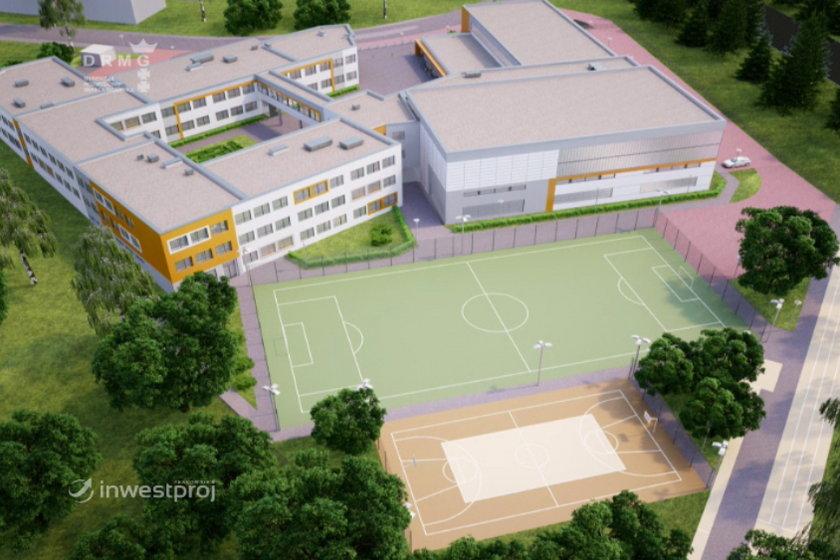 Wizualizacja szkoły w Kokoszkach