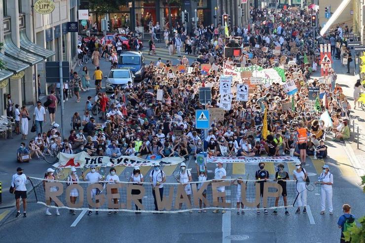 Rodžer Federer, protesti
