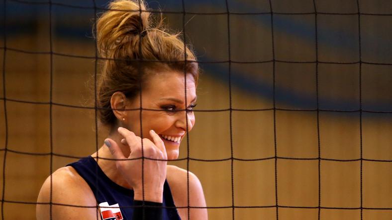 Zawodniczka siatkarskiej reprezentacji Polski Katarzyna Skowrońska-Dolata podczas treningu na zgrupowaniu kadry w Szczyrku