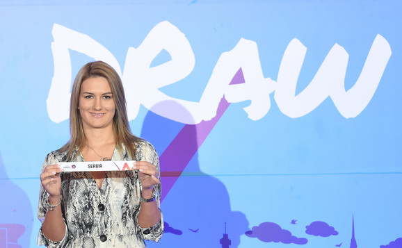 Nataša Kovačević na ceremoniji žreba za Evropsko prvenstvo za košarkašice 2019