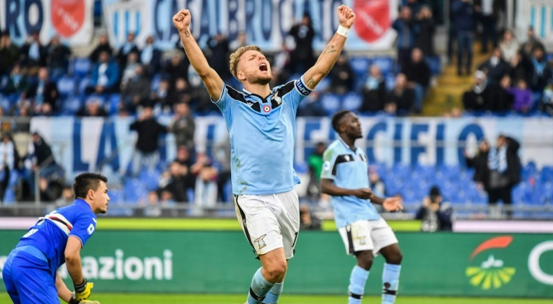 Immobile hits hat-trick as Lazio crush Sampdoria
