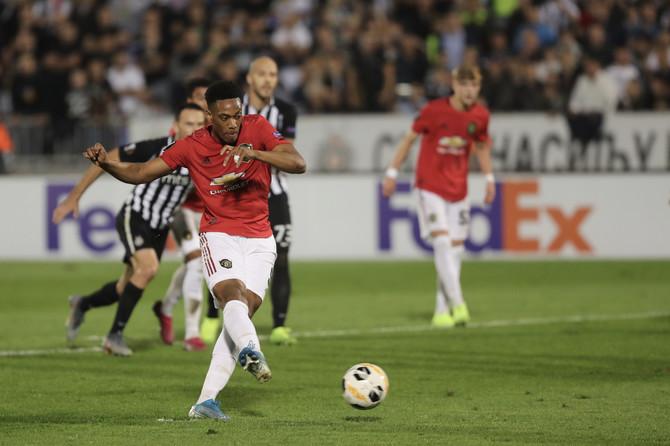 Antoni Marsijal  na večerašnjoj utakmici