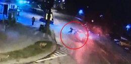 Groźny wypadek w Olecku. Wszystko nagrała kamera