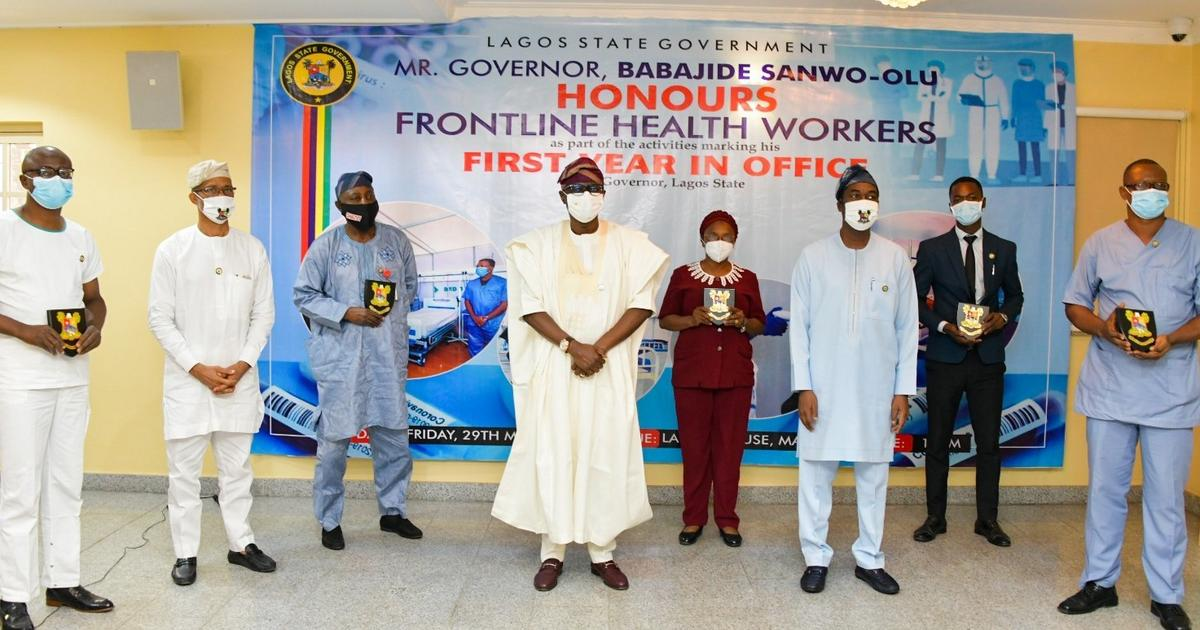 Sanwo-Olu dedicates first anniversary to frontline health workers in Lagos - Pulse Nigeria