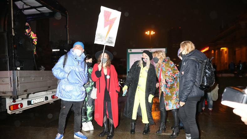 Protest artystów w Warszawie
