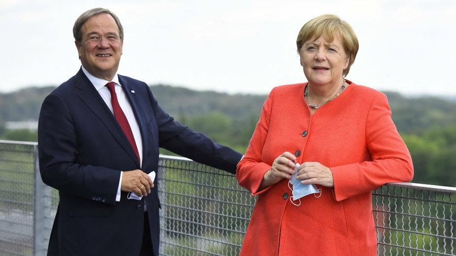 Armin Laschet oraz Angela Merkel