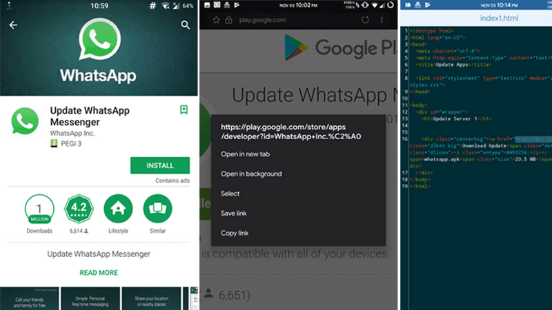 Fałszywy WhatsApp pobrany ponad milion razy z Google Play