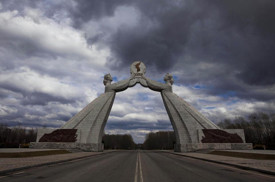 Łuk Zjednoczenia w Pjongjangu, stolicy Korei Północnej