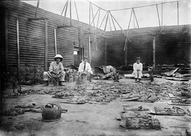 British soldiers in Benin during the expedition
