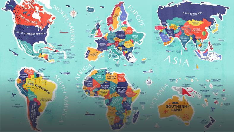 Mapa Ktora Tlumaczy Skad Sie Wziely Nazwy Panstw Wiadomosci