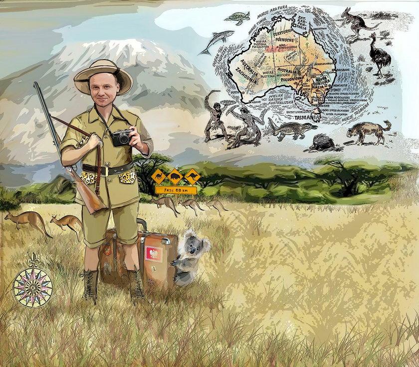 Prezydent w krainie kangurów
