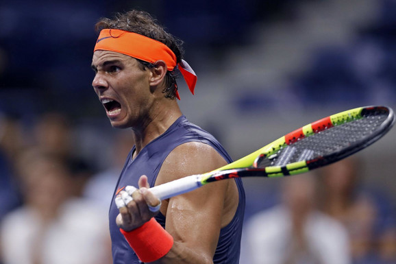 Rafael Nadal tokom meča sa Dominikom Timom