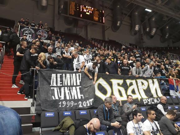 Košarkaši Partizana su imali podršku u Sankt Peterburgu