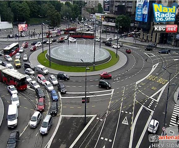 Pojačana frekvencija saobraćaja na Slaviji
