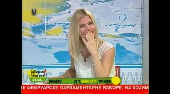 Nataša Miljković pokušava da obuzda smeh