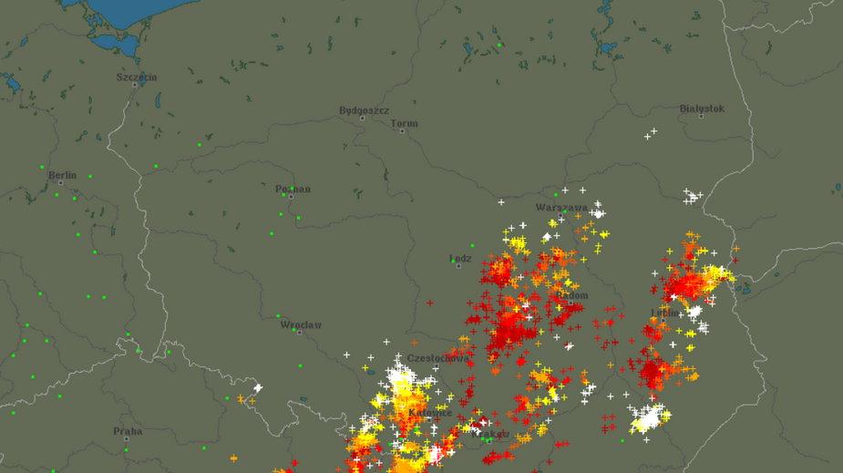 Front burzowy w całej Polsce 24.06