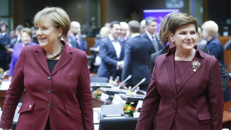 ... Na miejscu okazało się, że ten sam kolor przypadł do gustu kanclerz Niemiec...