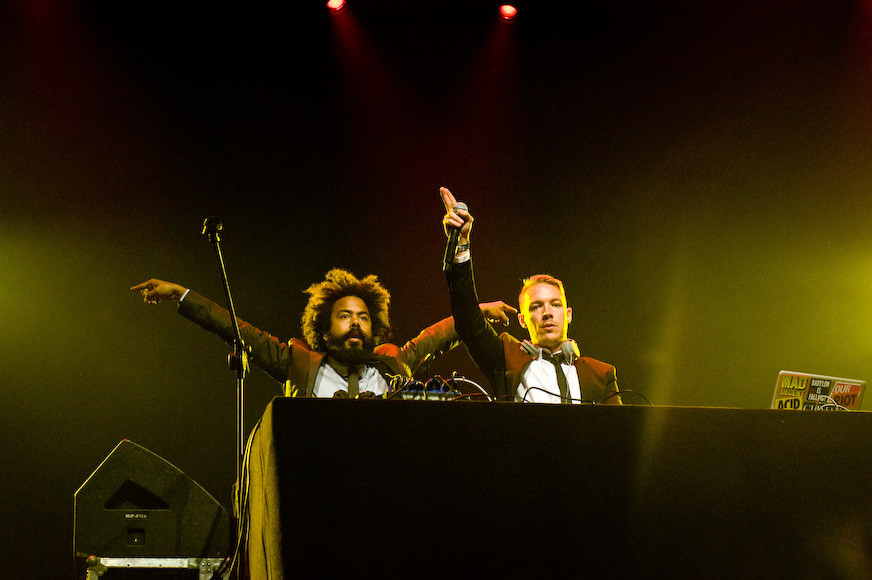 Major Lazer (The Jillionaire po lewej) (fot. Monika Stolarska / Onet)