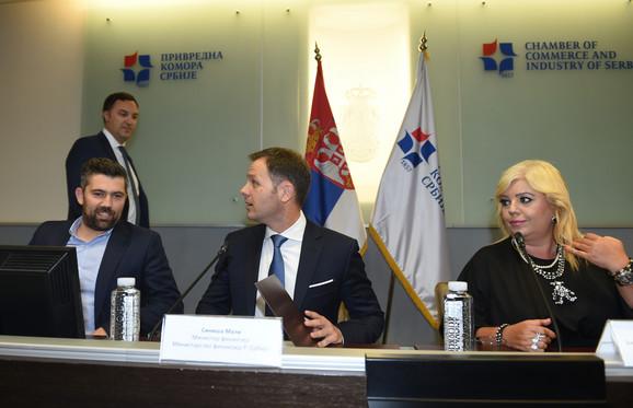 Predrag Mihailović, Siniša Mali i Branislava Simanić