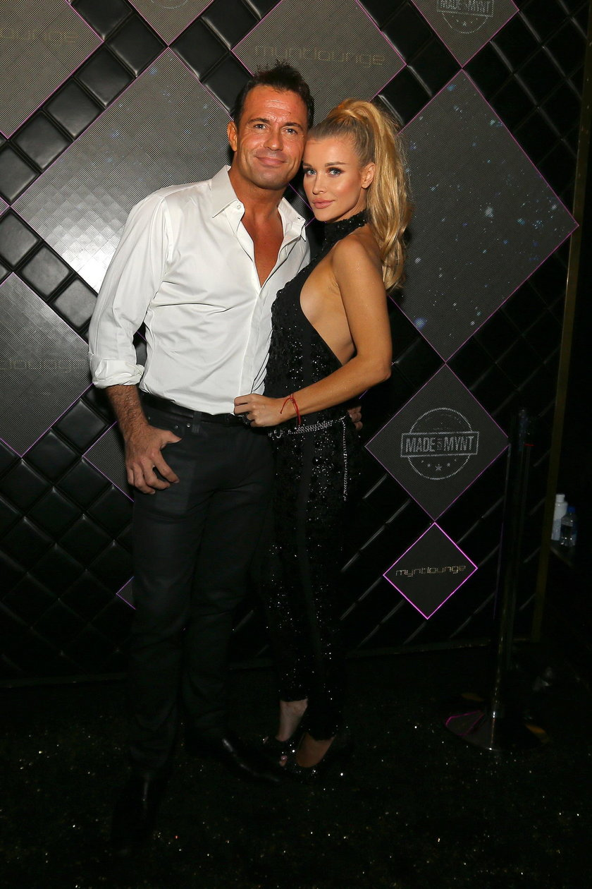 Joanna Krupa i Romain Zago na imprezie