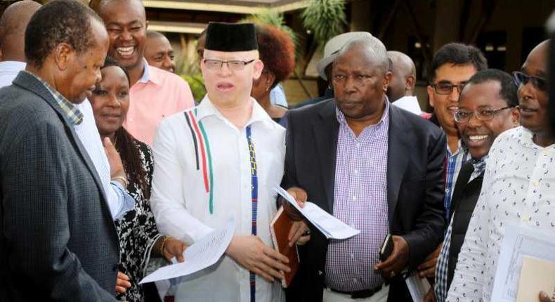 File image of (from left) Nyeri Senator Ephraim Maina,Nominated MP Cecily Mbarire, Nominated senator Isaac Mwaura and Nominated Mp Maina Kamanda at a past Mt Kenya Parliamentary group retreat in Naivasha