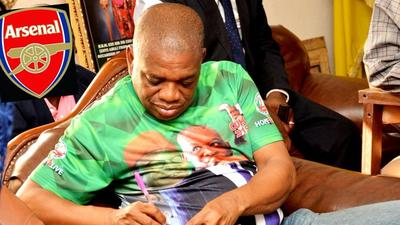 Senator Orji Kalu wants to invest in Arsenal and win the Champions League for the London club