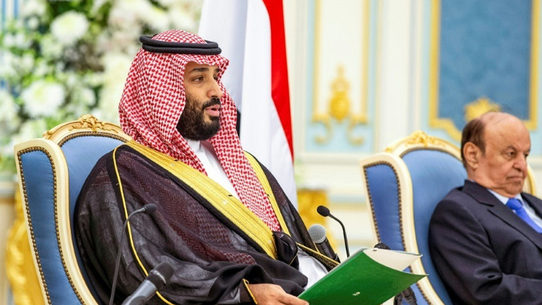 Saudi Arabia's de facto ruler Crown Prince Mohammed bin Salman attends the signing of a power sharing deal between the Saudi-backed Yemeni government and southern separatists that observers say could pave the way for a wider peace deal