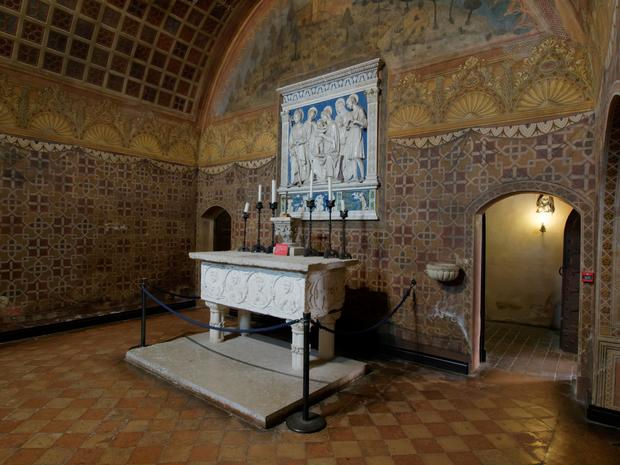 Wnętrze zamku, Gradara