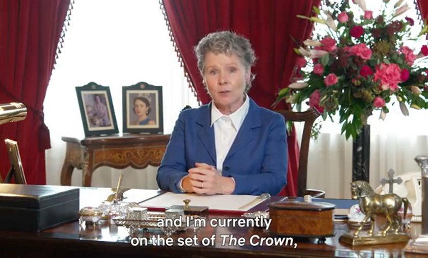 Imelda Staunton jako królowa.