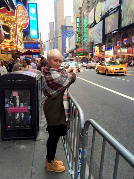 Martyna Mierzejewska na Times Square