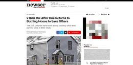 11-latka ratowała braci z ognia. Rodzice byli w kościele