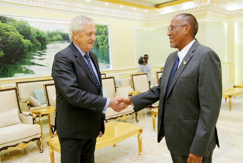 Somaliland President Muse Bihi Abdi Receives United Nations Secretary-General's Special Representative for Somalia Nicholas Haysom.