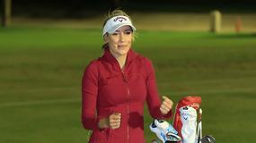 Niesamowity trik seksownej golfistki